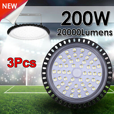 3X 200W LED High Bay Light Fixtures Warehouse Industry Office Gym Shed Lamp 240V