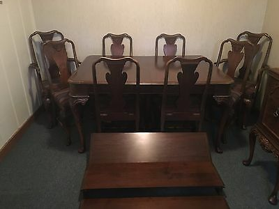 Antique Berkey and Gay Walnut Dining Set