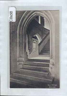 C8658cgt UK Oxford New College Staircase vintage postcard