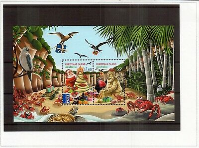 M2009sbs Australia Christmas Island 2012 Santa Crabs Beach MUH Mini sheet