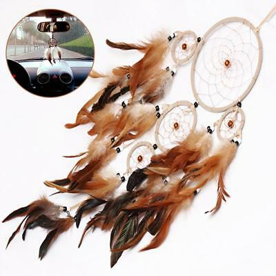 Original Dream Catcher With feathers Wall Hanging Decoration Decor Bead Ornament