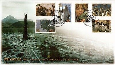 L2840sbs New Zealand FDC 2002 Lord of the Rings set