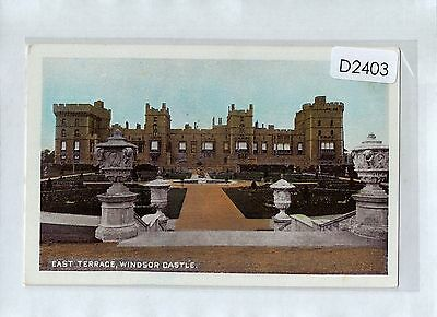 D2403cgt UK Windsor Castle East Terrace vintage postcard