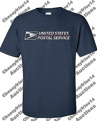 Usps Postal T-Shirt Full 2 Color Postal Logo Sizes S - 3X Buy 2 Get 1 Free!!!