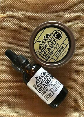 Beard Oil TN Whiskey and Balm Unscented Gift Combo Organic Beard Care USA