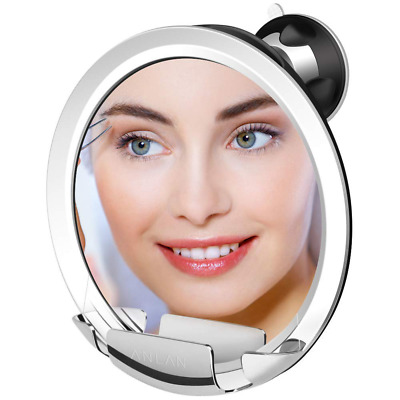 7X Shower Mirror 360°Adjustable Fogless Strong Locking Suction Makeup Mirrors US