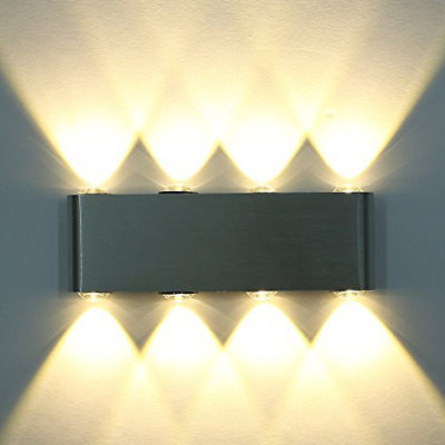 8 LED High Power Up Down Wall Lamp Spot Light Sconce Lighting Convex Mirror NEW
