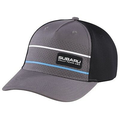 Genuine Subaru Rally USA Dotted Fitted Visor Cap Grey Rally Gear Hat Sti Wrx New