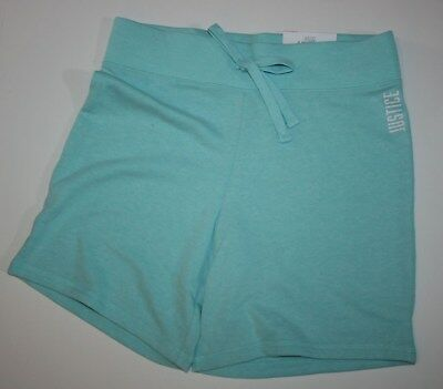 New Justice Bermuda Length Pull On Knit Shorts Girls 18 20 Year Light Blue NWT