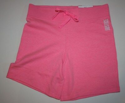New Justice Bermuda Length Pull On Knit Shorts Girls 18 20 Year Neon Pink NWT