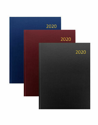 2019 EXECUTIVE Year Diary A5 / A4 Day Per Page A Black Padded Planner Organiser