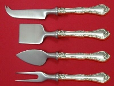 Alencon Lace By Gorham Sterling Silver Cheese Serving Set HHWS 4pc Custom