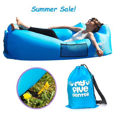 Inflatable Portable Lounger Air Sofa Hammock  Lounge Chair With Carry Bag NEW