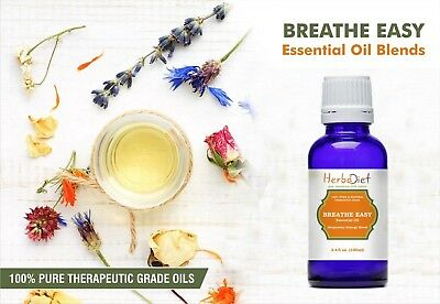 Essential Oil Blends BREATHE EASY OIL BLEND Pure Natural Therapeutic Grade Oils