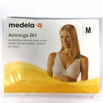 Medela Nursing Bra Women's Sleep Maternity Cotton Nude Size Med NIP