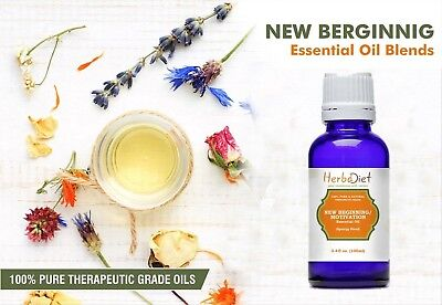 Essential Oil Blends NEW BEGINNING OIL BLEND Focus Mood Therapeutic Grade Oils