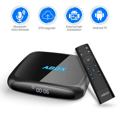 android 7.1 Bluetooth TV Box Voice Remote Ultra 4K HD Smart TV 2GB RAM 16GB ROM