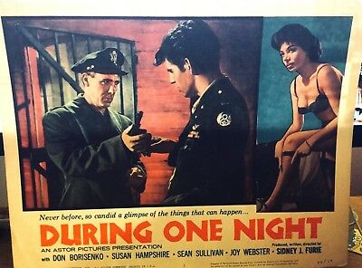 During One Night 1962 Lobby Card * Susan Hampshire, Don Borisenko * Sidney Furie