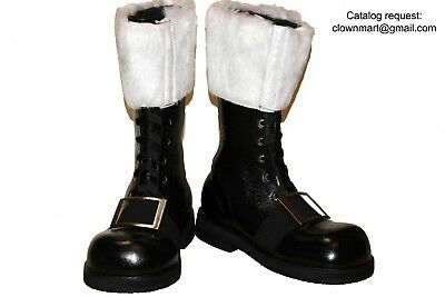 Nick Christmas Costume Boots Adult Men/'s Professional Wide Calf Santa Claus St