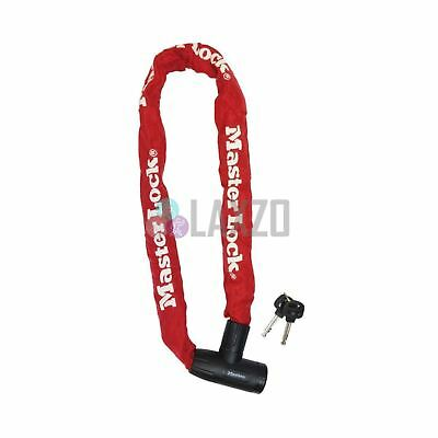 Master Lock 8mm x 900mm ChainLock With Integrated Disc Cylinder Key Red