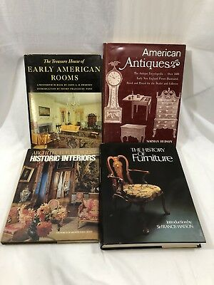 Lot Of 4 Vintage Books Antiques Furniture Design Hardcover