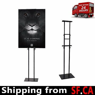 1 pc,Sign Holder Pedestal Poster Stand for Display Height Adjustable up to 82 in