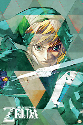 Legend of Zelda Link Triangles Nintendo Poster 12x18 Inch