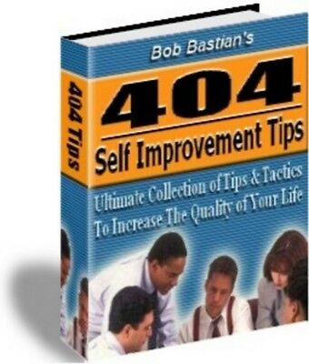 404 Self Improvement Tips + 10 Bonus Ebook + Resell Rights