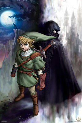 Legend of Zelda Link Shadow Poster 12x18 Inch