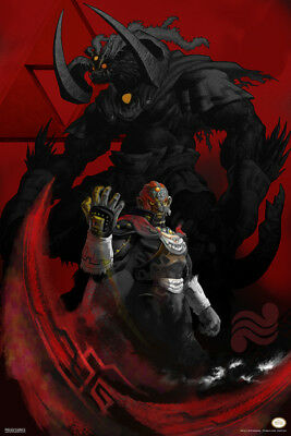 Legend of Zelda Ganon and Ganondorf Poster 12x18 Inch