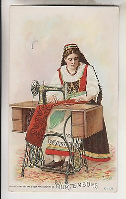 1894 Victorian Trade Card - Wurtemburg - The Singer Manufacturing Co.