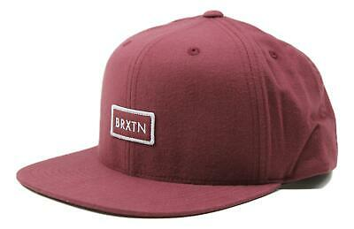 08f3f3b4d5c3d Brixton Mens Rift II Mp Snapback Hat Burgundy Size One Size New