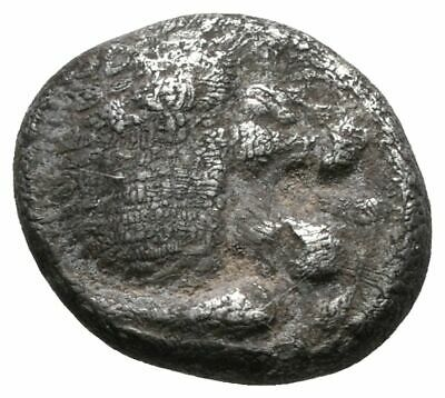 KOC Greek Coins.Ionia, Miletos. Late 6th-early 5th centuries B.C. AR diobol (8 m