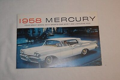 1958 Merury Sales Brohure. 9 In By 6 In. 302 Pages. English, Litho In U.s.a.