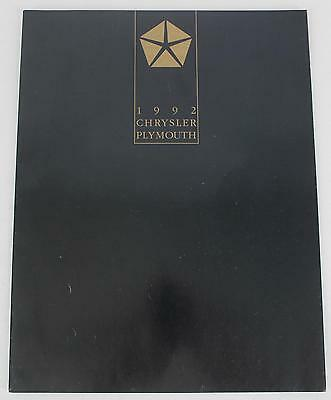 Chrysler Plymouth 1992 Sales Brochure / Literature