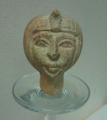 RARE ANCIENT EGYPTIAN ANTIQUE Tutankhamun Head of Young Tutenkh Stone BC