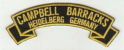 Campbell Barracks,Heidelberg Germany embroidered patch
