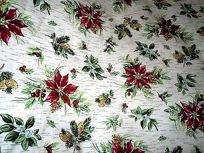 "longaberger~~ Holiday Floral Fabric ~ 36"" x 54"" ~ Christmas - 2 Yards Available"