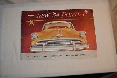 19 54 Pontiac Sales Folded Brochure. 11 In X 7 In. 16 P-Ages  When Open. English