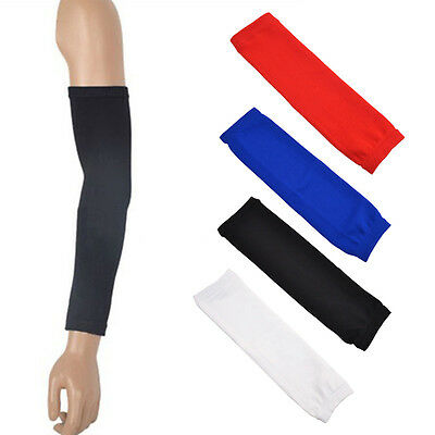 Sport Armlet Basketball Bike Compression Arm Long Sleeve Guard Protector Cotton.