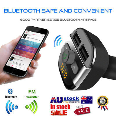 Bluetooth Car MP3 Player FM Transmitter Kit Wireless Radio Adapter USB ChargerAS