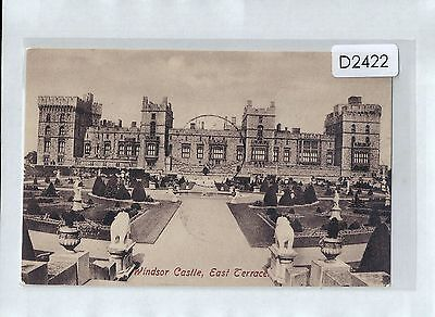 D2422cgt UK Windsor Castle East Terrace pu1908 vintage postcard