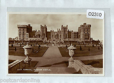 D2310cgt UK Windsor Castle East Terrace RP unused vintage postcard