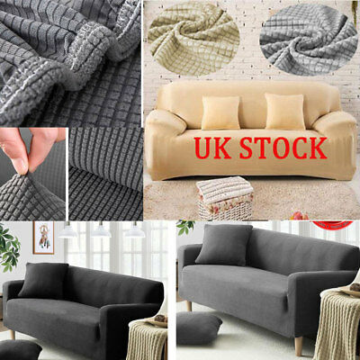 Stretch Covers Elastic Fabric Settee Protector Fit -1/2/3 Sofa Couch Slipcover L
