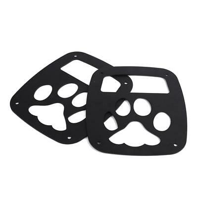 Rear Tail Light Cover Guard Lamp Trim Bear Paw Fits Jeep Wrangler Pair 1986-2006