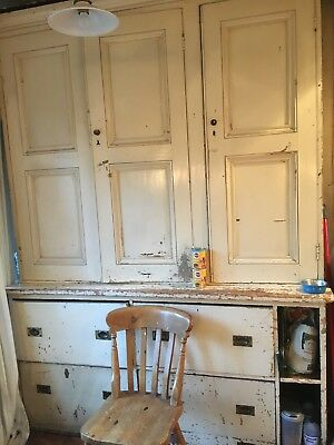 Antique Kitchen Cupboard - Victorian Housekeepers Cupboard