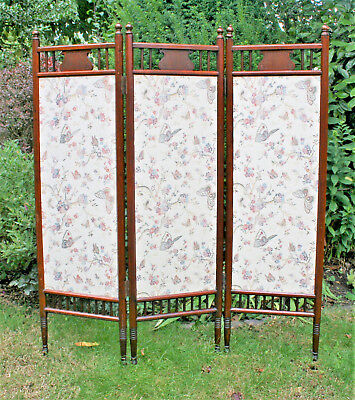 Antique screen or a folding room divider 52 inches height - Ewardian Style