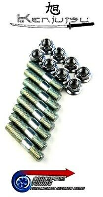 Complete Set Exhaust Manifold Stud & Nut Kit - For S13 200SX CA18DET