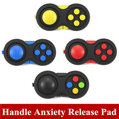 Relieves Stress Fidget Hand Shank Pad Rubber Toy Handle ADHD Anxiety Release Pad