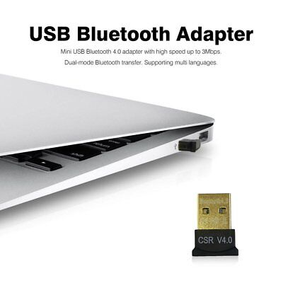 Mini USB Bluetooth 4.0 Adapter Dual Mode CSR Wireless Dongle EDR for PC Laptop T
